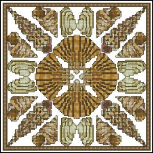 Схема Подушка с ракушками