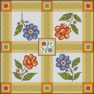 Схема Подушка с цветочками