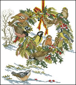 Схема Рождественский венок