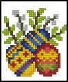 Схема Пасхальные яйца с вербой