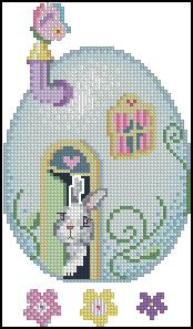 Схема Пасхальные яйца, дом кролика