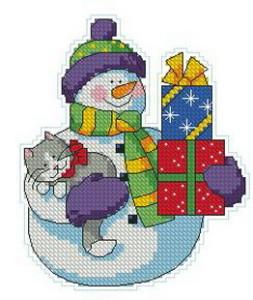Схема Снеговик с котом