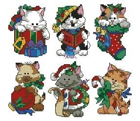 Схема Рождественские киски
