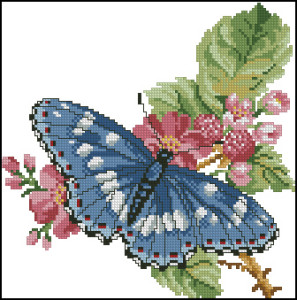 Схема Бабочка на веточке