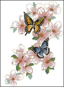 Схема Бабочки на цветении