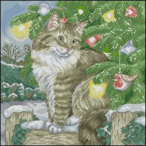 Схема Рождественский кот