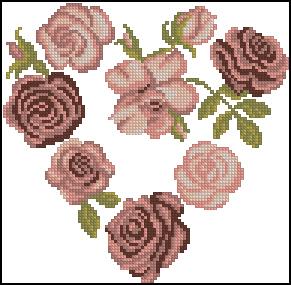 Схема Сердечко из роз