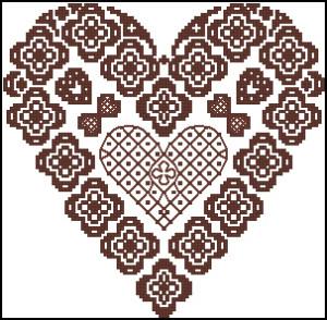 Схема Сердечко из кружева