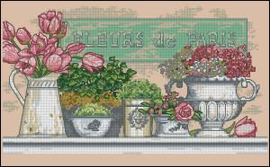 Схема Цветы Парижа / Dimensions 35204, Flowers of Paris