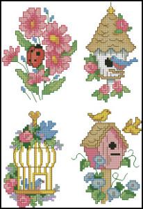 Схема Садовая вышивка / Dimensions00212, Garden Quickies 11-14