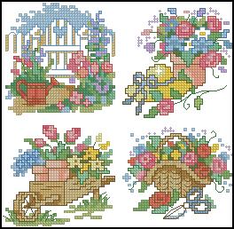 Схема Садовая вышивка / Dimensions00212, Garden Quickies 15-18