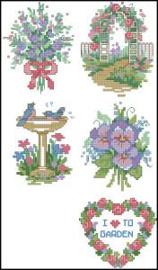 Схема Садовая вышивка / Dimensions00212, Garden Quickies 19-23