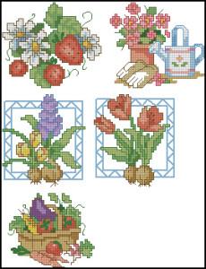 Схема Садовая вышивка / Dimensions00212, Garden Quickies 24-28
