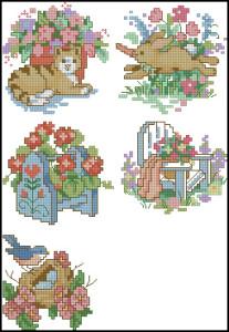 Схема Садовая вышивка / Dimensions00212, Garden Quickies 6-10