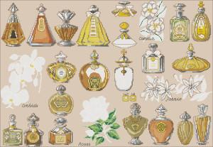 Схема Флаконы духов / Perfume Bottles