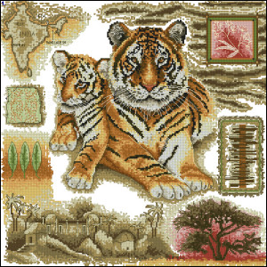 Схема Подушка - Тигры