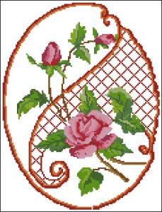 Схема Подушка - Розы