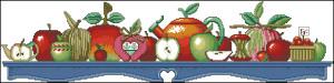 Схема Яблоки Сэлли / Sally's Apples (Janlinn 13-234)