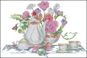 Схема Натюрморт с чайником / Teapot Still Life (Sudberry House)