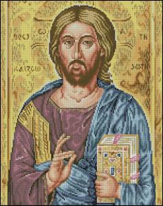 Схема Икона Иисус Христос / Icono Jesucristo — Cuadros
