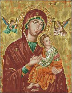 Схема Икона Богородицы / Icono Theotokos - Cuadros