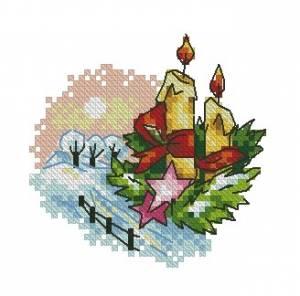Схема Новогодние свечи