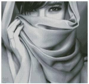 Схема Девушка в шарфе