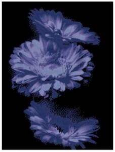 Схема Синие цветы