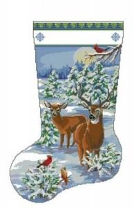 Схема Сапожок. Вечер в снежном лесу