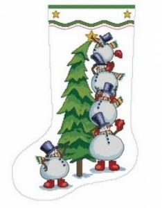Схема Сапожок. Ёлка и снеговики