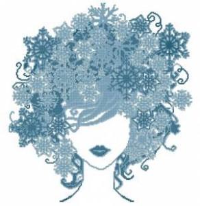 Схема Девушка Зима