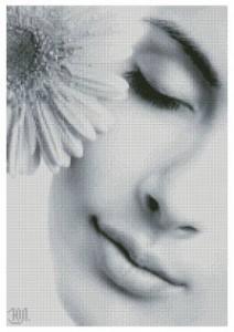 Схема Девушка с герберой