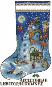 Схема Снеговик. Сапожок