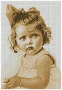 Схема Девчушка с ромашкой