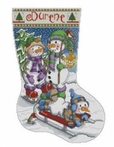 Схема Снеговики. Сапожок