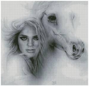 Схема Девушка с лошадью