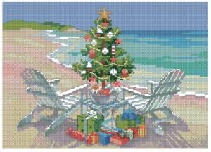 Схема Рождество на пляже