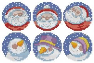 Схема Санта и снеговик