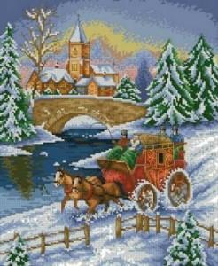 Схема Поездка по снегу