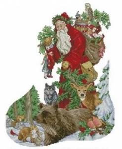 Схема Сапожок. Санта Клаус и звери