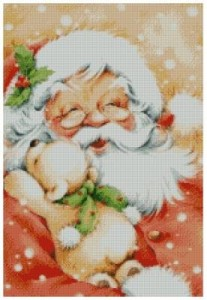 Схема Дед Мороз с мишкой - А