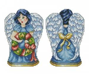 Схема Ангел с веночком