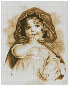 Схема Девчушка с корзинкой