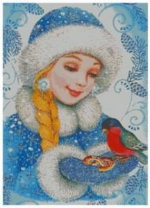Схема Снегурочка с птичкой - А
