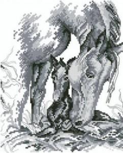 Схема Лошадь с жеребёнком
