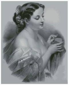 Схема Девушка со шкатулкой