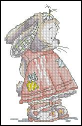 Схема Девочка кролик
