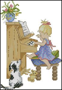 Схема Играя на пианино