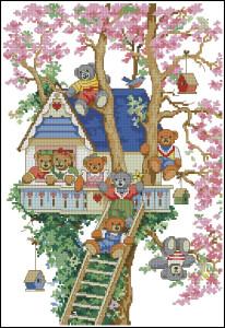 Схема Дом мишек на дереве