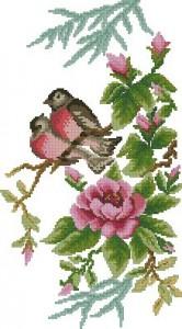 Схема Птички на ветке